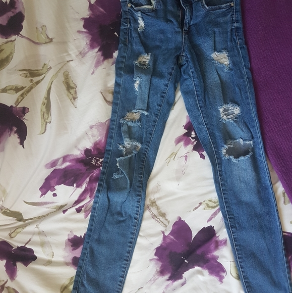 high waisted Size 00 garage jeans